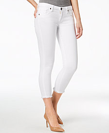Kut from the Kloth Donna Frayed Ankle Skinny Jeans