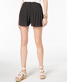 MICHAEL Michael Kors Printed Pleated Shorts