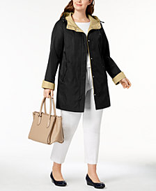 Jones New York Plus Size Colorblocked Raincoat