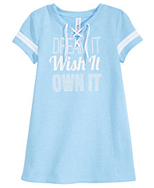 Ideology Dream It Graphic Lace-Up Dress, Little Girls, Created for Macy's