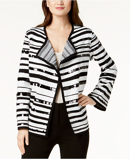 Sequin-Embellished Sweater Jacket, Created for Macy's
