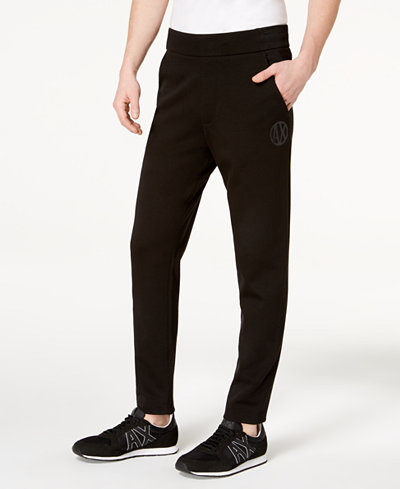 Armani Exchange Men's Tapered Knit Pants