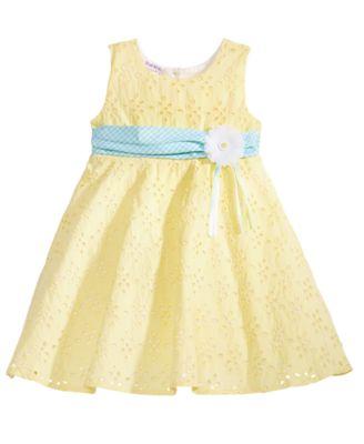 Eyelet & Ribbon Dress, Little Girls
