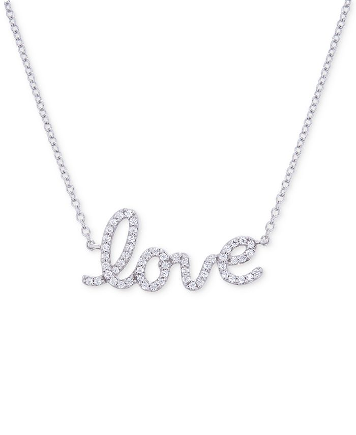 Wrapped - Diamond Love Pendant Necklace (1/6 ct. t.w.) in 14k White Gold