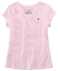 Big Girls Cotton V-Neck T-Shirt