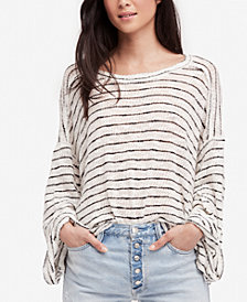 Free People Cotton Oversized Hacci-Knit Top