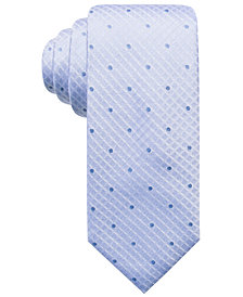 Ryan Seacrest Distinction™ Men's Capri Tonal Dot Grid Silk Slim Tie, Created for Macy's