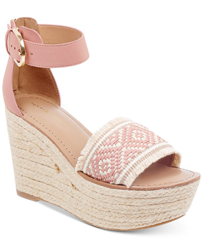 Tommy Hilfiger Women's Terin Platform Wedge Espadrille Sandals