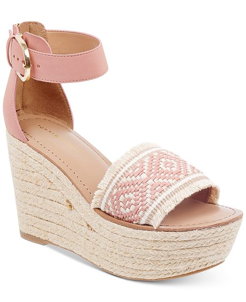 df7b86f12be7f8 Tommy Hilfiger Women s Terin Platform Wedge Espadrille Sandals ...