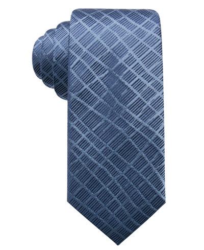 Alfani Men's Abstract Geometric Silk Slim Tie, Created for Macy's
