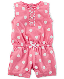 Carter's Dot-Print Romper, Baby Girls
