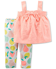 Carter's 2-Pc. Tank Top & Printed Leggings Set, Baby Girls