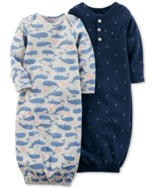 Carter's 2-Pack. Printed Sleeper Gowns, Baby Boys