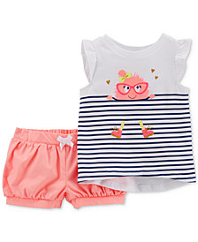 Carter's 2-Pc. Graphic-Print Shirt & Shorts Set, Baby Girls
