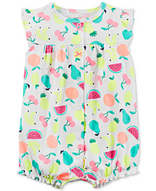 Carter's Fruit-Print Cotton Romper, Baby Girls