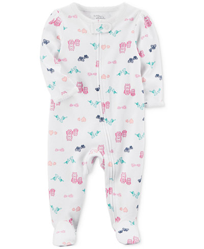 Carter's Little Planet Organics Owl-Print Cotton Coverall, Baby Girls