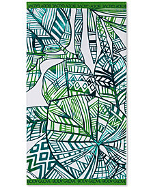"Body Glove Paluma Cotton 36"" x 70"" Tropical-Print Beach Towel"