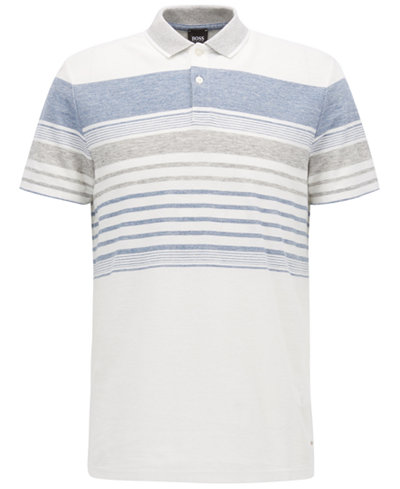 BOSS Men's Regular/Classic-Fit Striped Polo