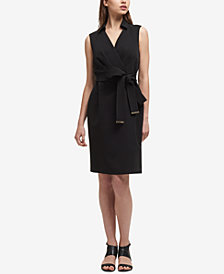 DKNY Tie-Belt Sheath Dress, Created for Macy's