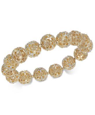 Crystal Filigree Stretch Bracelet, Created for Macy's