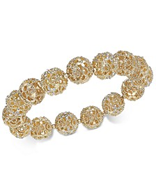 Crystal Filigree Stretch Bracelet, Created for Macy's
