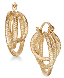 Charter Club Gold-Tone Multi-Hoop Earrings, Created for Macy's
