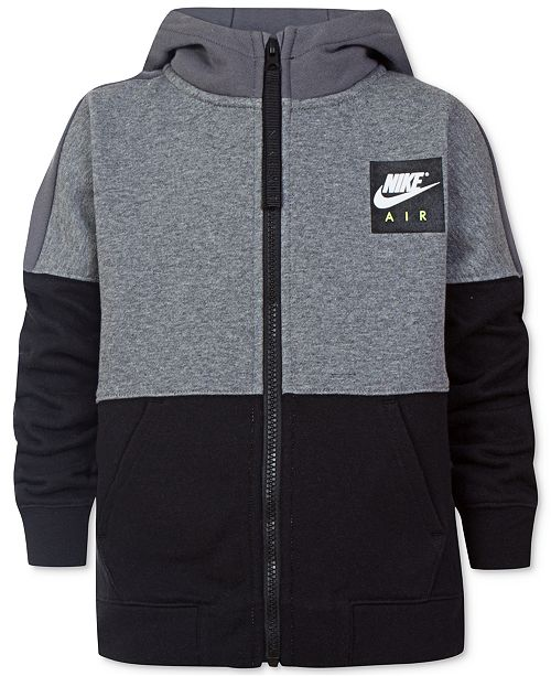 5368e2dbb Nike Air Full-Zip Hoodie, Toddler Boys & Reviews - Sweaters - Kids ...