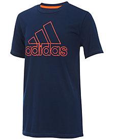 adidas Logo-Print T-Shirt, Little Boys