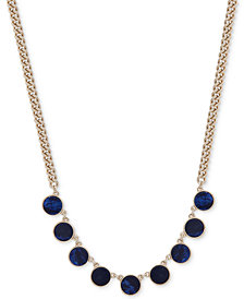 DKNY Gold-Tone Colored Stone Collar Necklace, Created for Macy's
