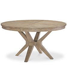 Bridgegate Round Expandable Dining Trestle Table