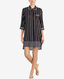 DKNY Contrast-Print High-Low Sleepshirt