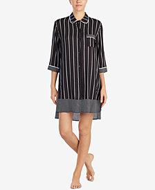 DKNY Contrast-Print High-Low Sleepshirt