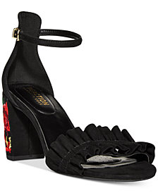 Kenneth Cole Reaction Women's Rise Ruffle Dress Sandals