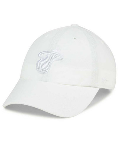 '47 Brand Miami Heat White CLEAN UP Cap