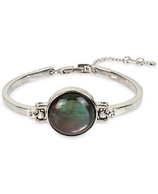 Kenneth Cole New York Silver-Tone Stone Flex Bracelet