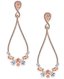 Danori Rose Gold-Tone Crystal & Pavé Drop Earrings