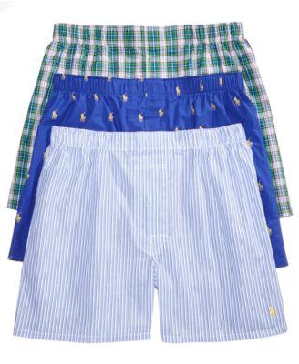 Polo Ralph Lauren Men\u0027s Classic Woven Boxers, 3-Pack