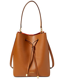 Lauren Ralph Lauren Dryden Debby Leather Drawstring