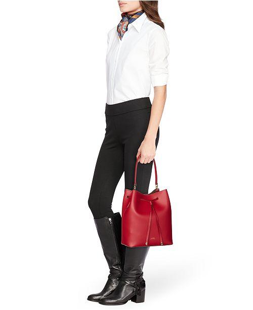 053249f9e0481 Lauren Ralph Lauren Dryden Debby Leather Drawstring   Reviews ...