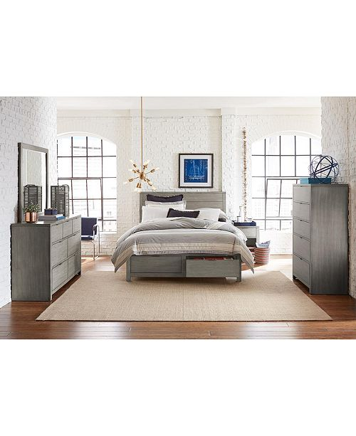 Terrific Tribeca Grey Storage Platform Bedroom Furniture Collection Created For Macys Download Free Architecture Designs Terstmadebymaigaardcom