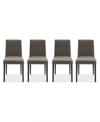 Gatlin Dining Chairs, 4-Pc. Set (4 Charcoal Dining Chairs), Created for Macy's
