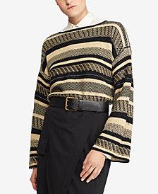Polo Ralph Lauren Bell-Sleeve Linen Sweater