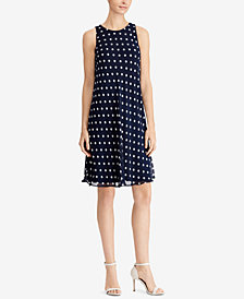 Lauren Ralph Lauren Polka-Dot A-Line Dress, Regular & Petite Sizes