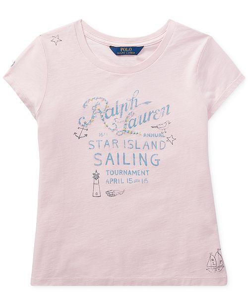 Polo Ralph Lauren Ralph Lauren Graphic Cotton T-Shirt, Big Girls