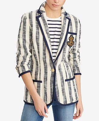 Lauren Ralph Lauren Striped Textured Blazer