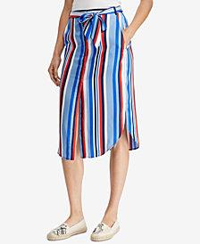 Lauren Ralph Lauren Striped Twill Skirt