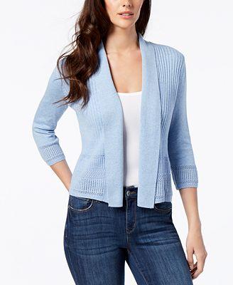Karen Scott Shawl Collar Cardigan Created For Macys Sweaters