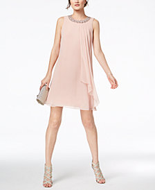 Vince Camuto Embellished Trapeze Dress