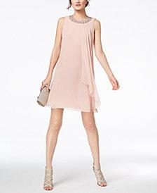 Vince Camuto Embellished Trapeze Dress