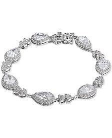 Giani Bernini Cubic Zirconia Teardrop Link Bracelet in Sterling Silver, Created for Macy's